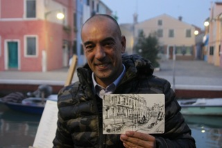 Max and sketch of Burano